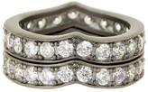 Freida Rothman Pave CZ Heart Stack Ring Set - Size 7