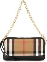 Burberry checked shoulder bag - women - Cotton/Leather - One Size