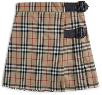 Burberry Kids Vintage Check Pleated Skirt (3-12 Years)