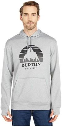 Burton Oak Seasonal Pullover Hoodie (True Black Heather) Men's Clothing