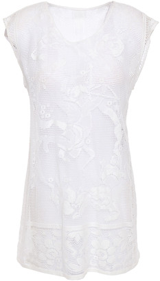 Dolce & Gabbana Crocheted Cotton-blend Lace Top