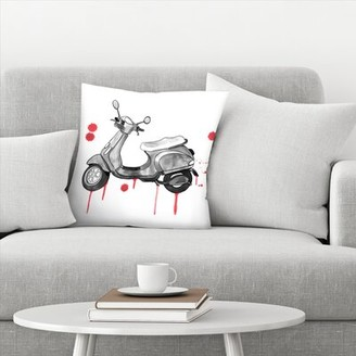 "East Urban Home Scooter Away Accents Throw Pillow Size: 14"" H x 14"" W"