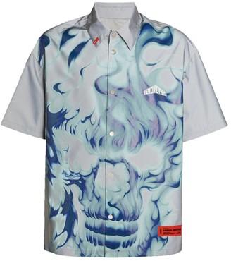 Heron Preston Reflective Flames Shirt
