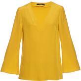 Etro V-neck silk-crepe blouse