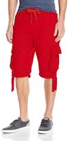 Southpole Men's Jogger Shorts with Cargo Pockets In Basic Solid Colors
