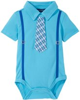 Andy & Evan Polo Shirtzie (Baby) - Aqua 0-3 Months