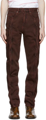 Y/Project Brown Twisted Seam Jeans