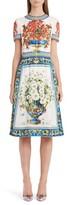 Dolce & Gabbana Women's Print Silk Fit & Flare Dress