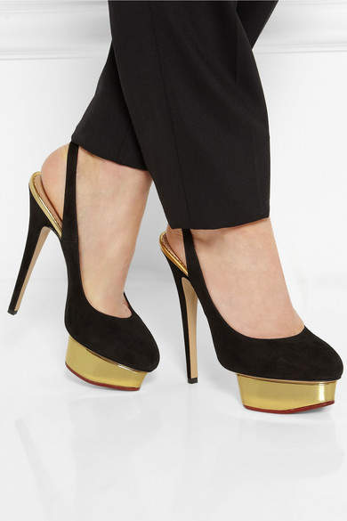 Charlotte Olympia The Dolly Suede Pumps - Black