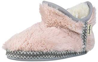 Dearfoams Baby Kids Toddlers Fuzzy Pile Bootie Slipper