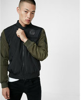 Express Military Patch Bomber Jacket