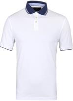 Hackett White Mix Trim Slim Fit Polo Shirt
