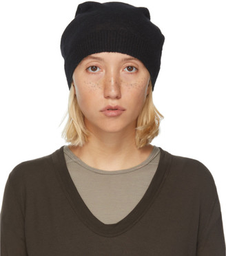 Rick Owens Black Mohair and Alpaca Medium Beanie