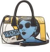 Prada Comic-print leather bag