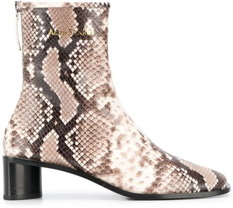 Acne Studios Python Print Ankle Boots