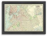 "Americanflat ""Brooklyn"" Map Framed Wall Art"