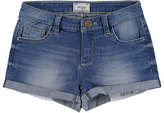 Mayoral Light Wash Stretch Denim Shorts, Medium Blue, Size 8-16