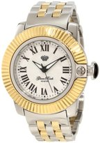 Glam Rock Women's GR31015 SoBe White Mother-Of-Pearl Dial Two Tone Stainless Steel Watch