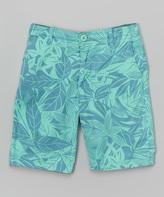 Micros Light Blue Tropical Shorts - Boys