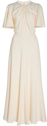 Giambattista Valli Twist-Detailed Crepe Maxi Dress