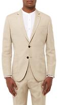 Jaeger Silk Linen Regular Fit Suit Jacket, Straw