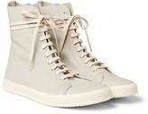 Rick Owens - Mastodon Cracked-leather High-top Sneakers