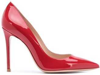 Gianvito Rossi Pointed Patent-Leather Pumps