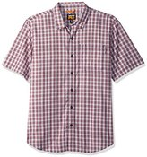 Timberland Men's Plotline Short-Sleeve Plaid Work Shirt