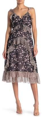 Sugar Lips Brinn Ruffle Trim Midi Dress