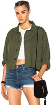 The Great Cropped Army Jacket in Green.