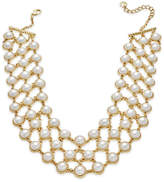 Charter Club Gold-Tone Imitation Pearl Collar Necklace, Only at Macy's