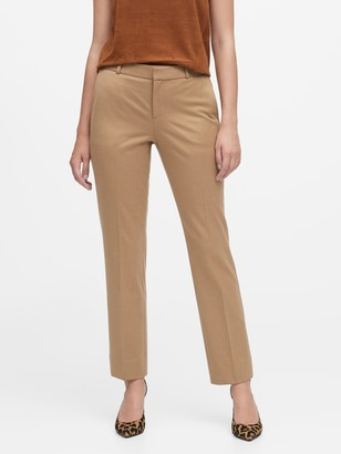 Banana Republic Ryan Slim Straight-Fit Flannel Ankle Pant