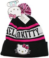 SANRIO Hello Kitty Black and Pink Colored Beanie