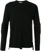 Helmut Lang cut out detail jumper - men - Cotton/Spandex/Elastane/Cashmere - XS