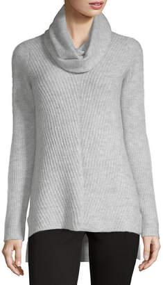 Liz Claiborne V-Neck Sweater With Infinity Scarf