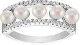 Bliss Cultured Freshwater Pearl & Cubic Zirconia Open Ring
