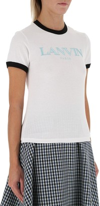 Lanvin Logo Embroidered T-Shirt