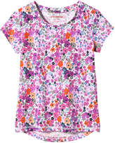 Joe Fresh Kid Girls' Floral Tee, Pink (Size XL)
