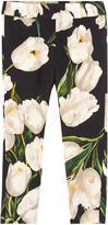 Dolce & Gabbana Girl slim fit tulip-printed pants