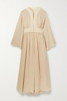 The Row Smith Silk-chiffon Maxi Dress - Beige