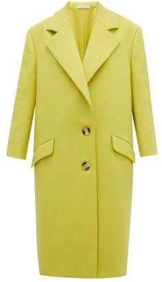 Vika Gazinskaya Single-breasted Wool Coat - Womens - Yellow