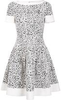 Carolina Herrera splatter paint print dress