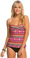 Hobie What's Knot To Like? Twist Bandeau Tankini Bikini Top 8140316