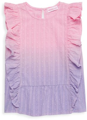Design History Little Girl's Ombre Ruffle Top
