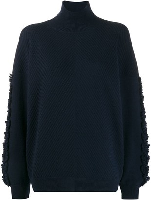 Barrie Textured Sleeves Detail Jumper