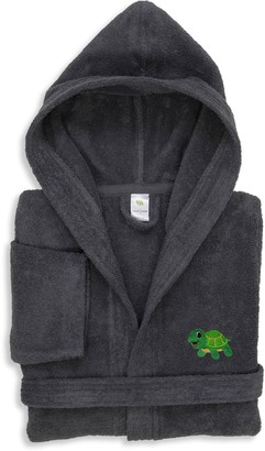 Linum Home Textiles Kids Turtle Embroidered Terry Hooded Bathrobe