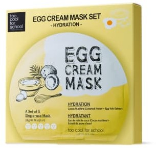 Too Cool for School Egg Cream Hydration Mask X 5