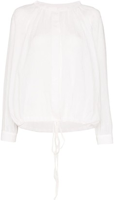 Missing You Already Tie Hem Button-Down Blouse