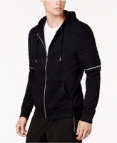 INC International Concepts Men's Full-Zip Moto Hoodie, Created for Macy's