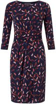Adrianna Papell Feather print dress